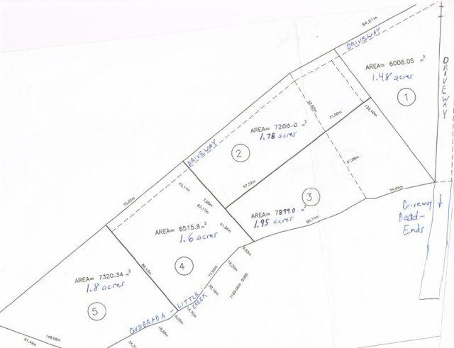 Lot map of San Ramon Costa RIca properties