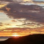 san ramon costa rica sunset from lot for sale on magallanes road